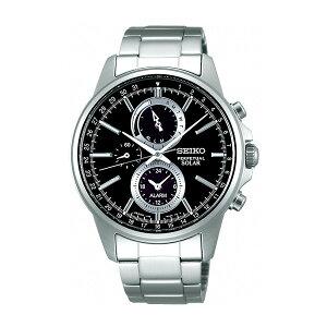 セイコースピリットソーラーメンズクロノ腕時計時計SBPJ005ブラック国内正規【ポイント10倍】【_包装】