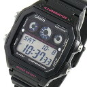 カシオ CASIO クオーツ メンズ 腕時計 時計 AE-1300WH-1A2 ブラック/ピンク【ポイント10倍】【inte_D1806】