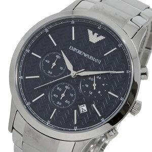 エンポリオアルマーニクオーツクロノメンズ腕時計時計AR2486ブラック【ポイント10倍】【_包装】