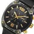 ディーゼル オーバーフロー クロノ クオーツ メンズ 腕時計 時計 DZ4375 ブラック【ポイント10倍】【楽ギフ_包装】