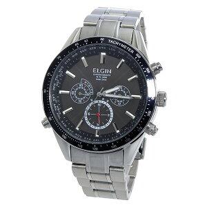 エルジンELGIN電波ソーラークロノメンズ腕時計時計FK1412S-BPブラック【ポイント10倍】【_包装】