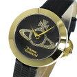 ヴィヴィアン ウエストウッド クオーツ レディース 腕時計 時計 VV150GDBK ブラック【ポイント10倍】【楽ギフ_包装】