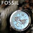 フォッシル FOSSIL クオーツ レディース 腕時計 時計 ES4016 ライトブルー【ポイント10倍】【楽ギフ_包装】