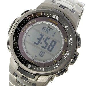 カシオCASIOプロトレックPROTREKソーラークオーツメンズ腕時計PRW-3000T-7シルバー【送料無料】【ポイント10倍】【_包装】