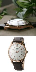 ヘンリーロンドンHENRYLONDONリッチモンド39mmユニセックス腕時計時計HL39-S-0028ホワイト/ブラウン【ポイント10倍】【_包装】