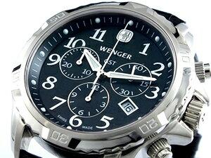 【ポイント10倍】【送料無料】【ラッピング無料】ウェンガー WENGER GST クロノグラフ 腕時計 7...