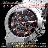 サルバトーレマーラ 腕時計 時計 クロノグラフ メンズ SM8005-BKPG【ポイント10倍】