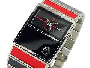 ニクソンNIXONシャレーCHALET腕時計時計レディースA575-008ブラック×レッド【YDKG円高還元ブランド】【ポイント10倍】【_包装】