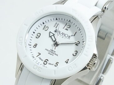 アバランチ AVALANCHE 腕時計 AV-1025-WHSIL ホワイト×シルバー【ポイント10倍】