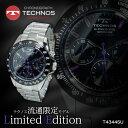 テクノス TECHNOS クオーツ メンズ クロノ 腕時計 時計 T4...