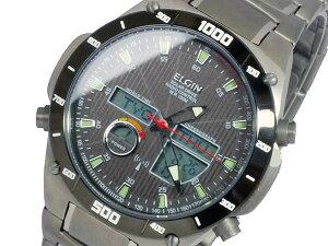 エルジンELGINソーラー電波メンズチタンワールドタイム腕時計時計FK1397TI-BP【ポイント10倍】【_包装】