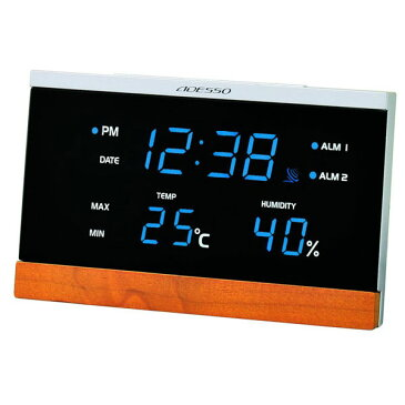 LED温湿度電波時計 C-8344 LED温湿度電波時計 C-8344/20点入り(代引き不可)【ポイント10倍】