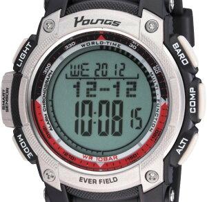 【YOUNGS】ヤンズメンズ腕時計YP-10515-04デジタル多機能付5気圧防水/5点入り(き)【ポイント10倍】【RCP】
