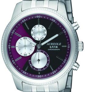 【AUREOLE】オレオールメンズ腕時計SW-575M-7クロノグラフ10気圧防水/5点入り(き)【ポイント10倍】【RCP】