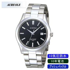 【AUREOLE】オレオールメンズ腕時計SW-409M-1アナログ表示日常生活用防水10年電池10気圧防水/10点入り(き)【ポイント10倍】【RCP】