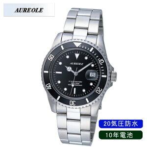 【AUREOLE】オレオールメンズ腕時計SW-416M-1アナログ表示10年電池20気圧防水/10点入り(き)【ポイント10倍】【RCP】
