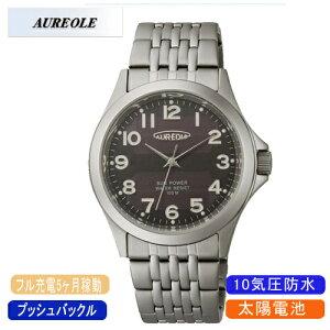 【AUREOLE】オレオールメンズ腕時計SW-482M-1アナログ表示ソーラー10気圧防水/10点入り(き)【ポイント10倍】【RCP】
