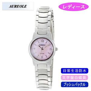 【AUREOLE】オレオールレディース腕時計SW-484L-4アナログ表示文字盤白蝶貝日常生活用防水/10点入り(き)【ポイント10倍】【RCP】