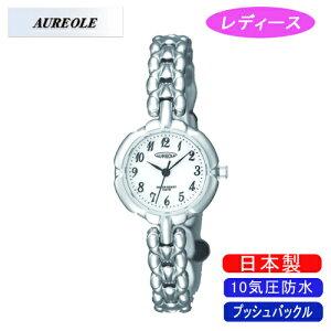 【AUREOLE】オレオールレディース腕時計SW-496L-Cアナログ表示10気圧防水日本製/10点入り(き)【ポイント10倍】【RCP】