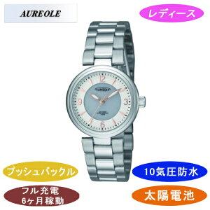 【AUREOLE】オレオールレディース腕時計SW-572L-2アナログ表示ソーラー10気圧防水/10点入り(き)【ポイント10倍】【RCP】