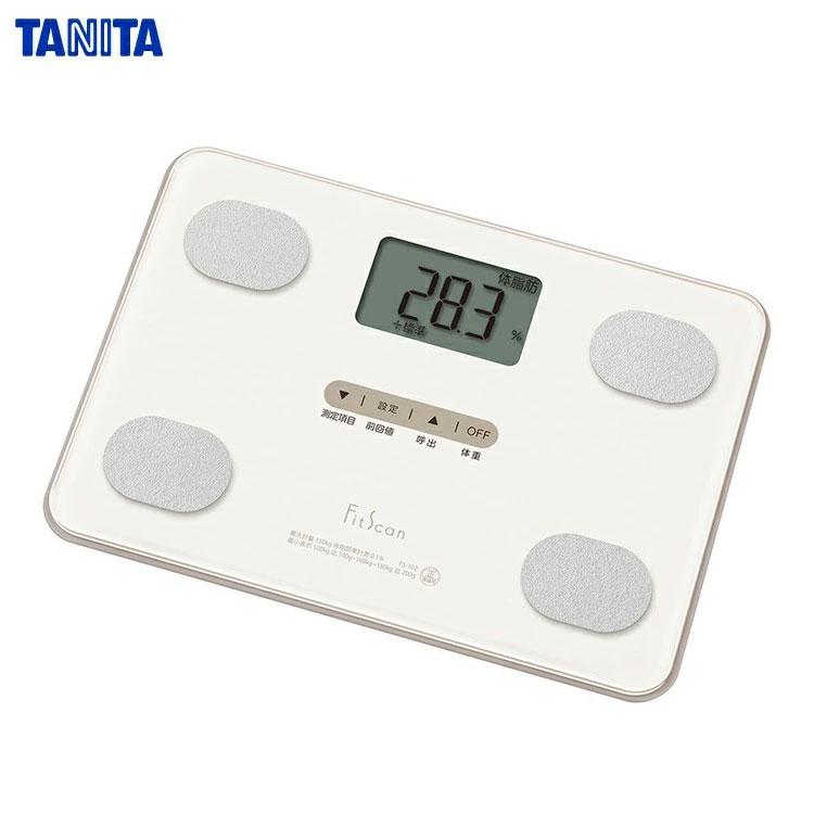 TANITA(タニタ) 体組成計 フィットスキャン FS-101-WH ホワイト (体重計/体脂肪/内蔵脂肪/BMI) 薄型コンパクトモデル【】