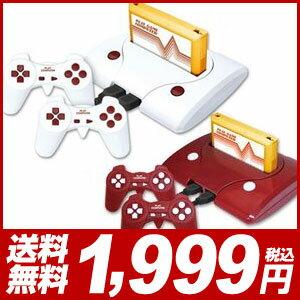 ファミコン 互換機 118プレイゲームコンピューター ホワイト レッド 2色 KA-00280 コントローラー 2個付属【あす楽対応】