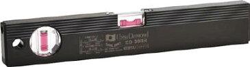 エビスダイヤモンド 磁石付ベーシックレベルブラック 300mm ブラック/レッド【ED-30MBR】(測量用品・水平器)