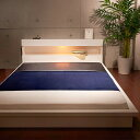 国産 日本製 ベッド ダブル 棚付き フロアベッド ローベッド マット...