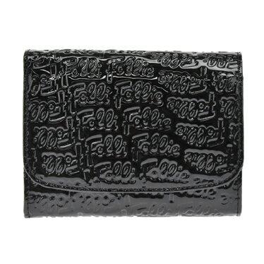 フォリフォリ Folli Follie WA0L026SK BLACK 二つ折り財布 レディース【ポイント10倍】