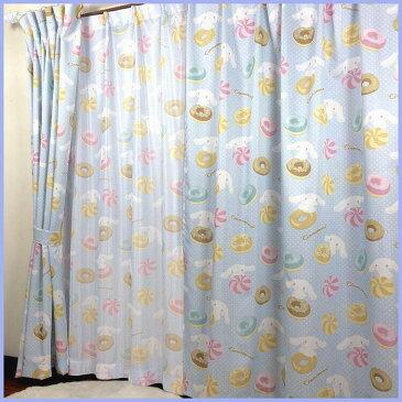 Sanrio サンリオ キャラクター シナモンロール カーテン 子供部屋 カーテン ミラーレースカーテン4枚セット 100×178cm(4枚組)(代引不可)【ポイント10倍】【送料無料】【smtb-f】