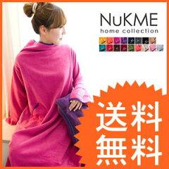 着るブランケットNuKME(ヌックミィ) ブランケット毛布 フリース ファブリック ひざ掛けヌックミ...