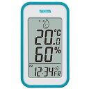 タニタ(TANITA) デジタル温湿度計 置き掛け両用タイプ/マグネット付 ブルー TT-559-BL 1