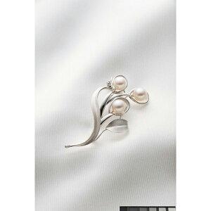 ベストセレクションあこや真珠リーフブローチCHBR105()
