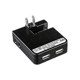 サンワサプライ USB充電タップ型ACアダプタ(出力2.1A×2ポート)ブラック ACA-IP25BK(代引き不可)