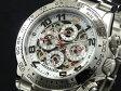 ジョンハリソン JHARRISON 腕時計 自動巻き フルスケルトン JH003-WH【楽ギフ_包装】【送料無料】