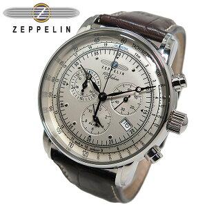 ツェッペリン ZEPPELIN 100周年記念 クオーツ メンズ クロノ 腕時計 7680-1【送料無料】