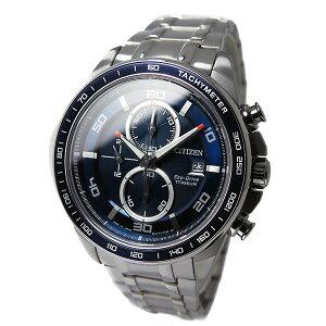 シチズンCITIZENクオーツメンズクロノ腕時計CA0346-59Lブルー【送料無料】【_包装】