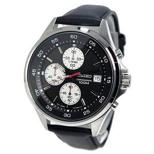 セイコーSEIKOクオーツメンズクロノ腕時計SKS485P1ブラック【送料無料】【_包装】