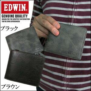 エドウィンEDWIN二つ折り財布短財布12239720-BRブラウン【楽ギフ_包装】