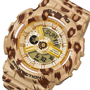 カシオCASIOベビーGレオパードシリーズレディース腕時計BA-110LP-9Aベージュ【送料無料】【_包装】