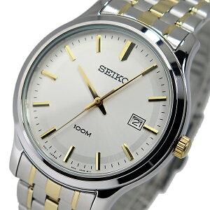 セイコーSEIKOクオーツメンズ腕時計SUR147P1シルバー/ゴールド【送料無料】【_包装】