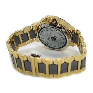 ジョンハリソンソーラー電波時計メンズ腕時計JH-028GBグレー/ゴールド【送料無料】【_包装】