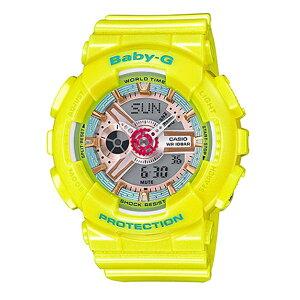カシオベビーGBABY-Gクオーツレディース腕時計BA-110CA-9Aイエロー【送料無料】【_包装】