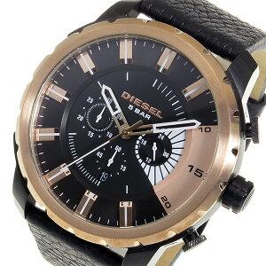 ディーゼルストロングホールドメンズクオーツクロノ腕時計DZ4390ブラック【送料無料】【_包装】