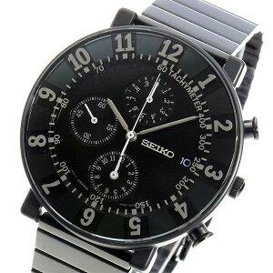 セイコースピリットSEIKO×SOTTSASSクロノメンズ腕時計SCEB037ブラック【送料無料】【_包装】