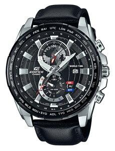 カシオCASIOエディフィスクロノクオーツメンズ腕時計EFR-550L-1Aブラック【送料無料】【_包装】