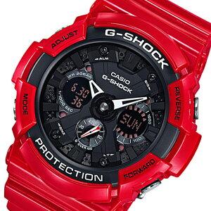 カシオGショックアナデジクオーツメンズ腕時計GA-201RD-4Aブラック/レッド【送料無料】【_包装】