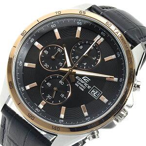 カシオCASIOエディフィスクロノクオーツメンズ腕時計EFR-512L-1AVブラック【送料無料】【_包装】