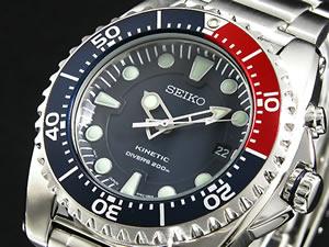 セイコーSEIKOキネティックKINETIC腕時計ダイバーSKA369P1【送料無料】