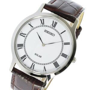 セイコーSEIKOソーラーSOLARメンズ腕時計SUP869P1ホワイト【送料無料】【_包装】